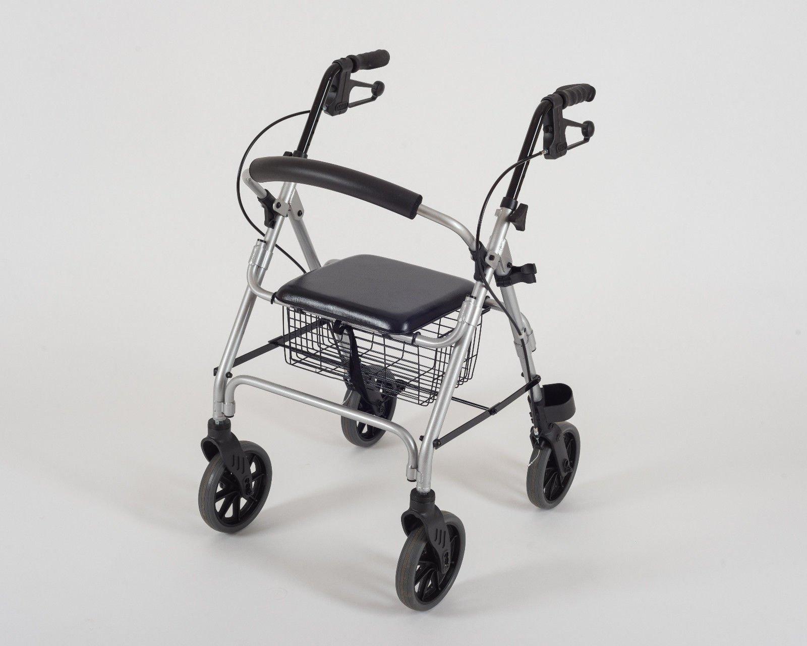 Dietz Rollator Leichtgewicht Ligero mit Rückenstütze, Korb und gepolstertem Sitz