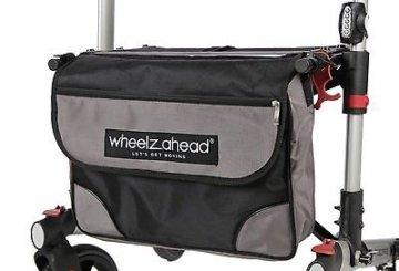 Leichtgewichtrollator Reiserollator Rollator faltbar WheelzAhead mit Rückengurt