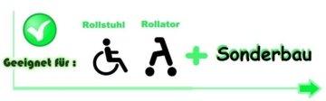 Mikrofaser Rollator Schirm SET Universal Regen Belüftet Wetter Rollstuhl Schutz
