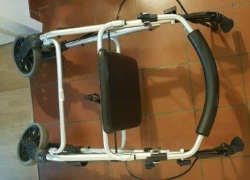 Rollator Ligero Dietz Gehwagen Leichtgewicht 7Kg Rückenlehne Stockhalter
