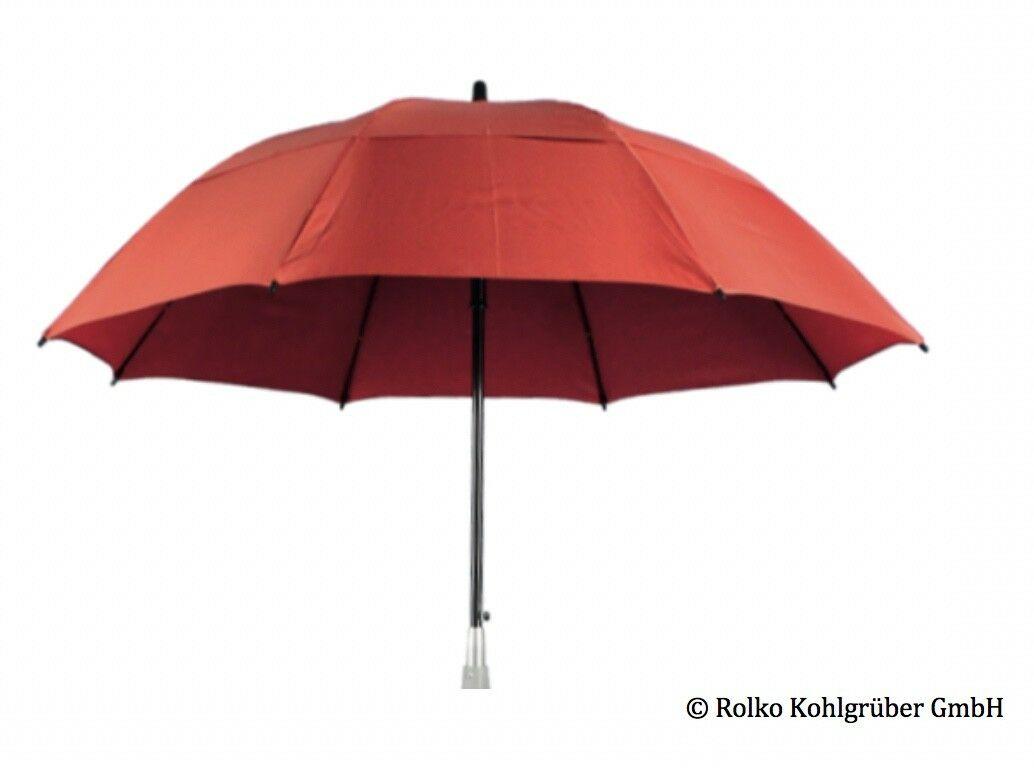 Rollatorschirm für Schutz vor Sonne und Regen in Rot (Rolko GmbH)