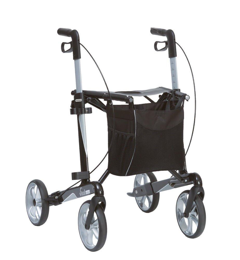 Russka® Rollator vital carbon extra leicht 5,8 kg Premium Leichtgewicht Rollator