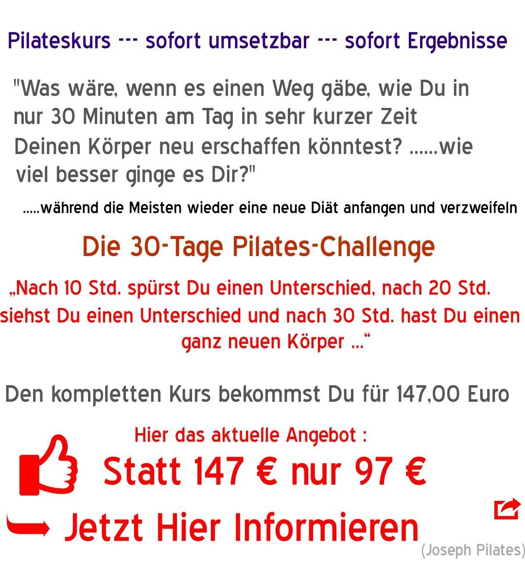 Pilateskurs 30-Tage Pilates-Challenge